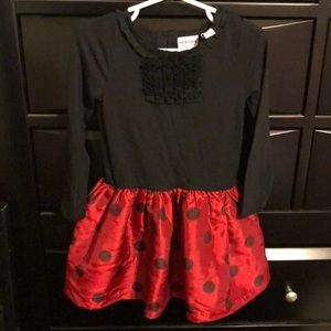 Black abs red Holliday dress